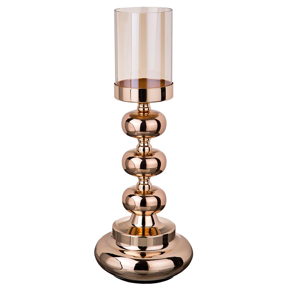 Купить Декоративные свечи Lefard, Подсвечник Safir (17х46 см), Китай, Металл, Стекло