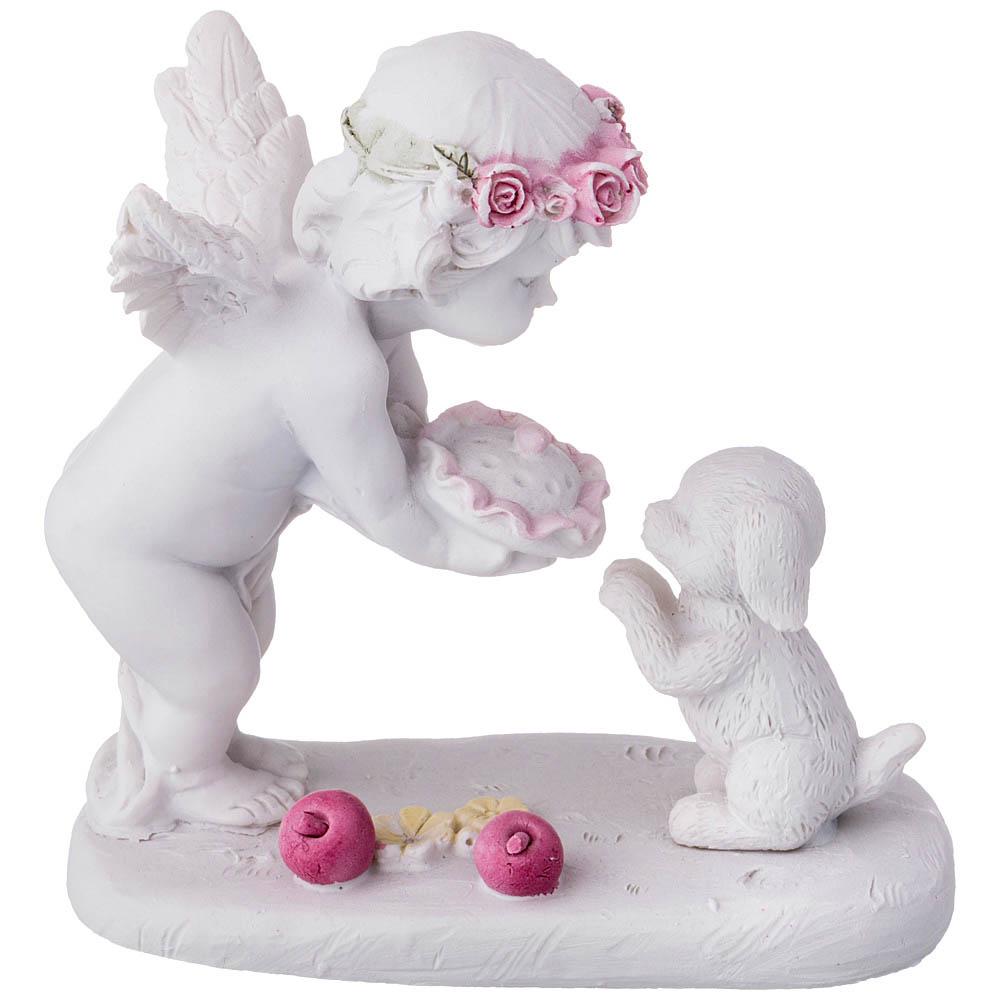 Купить Статуэтки и фигурки Lefard, Фигурка Kathryn (11х6х10 см), Китай, Белый, Розовый, Полистоун