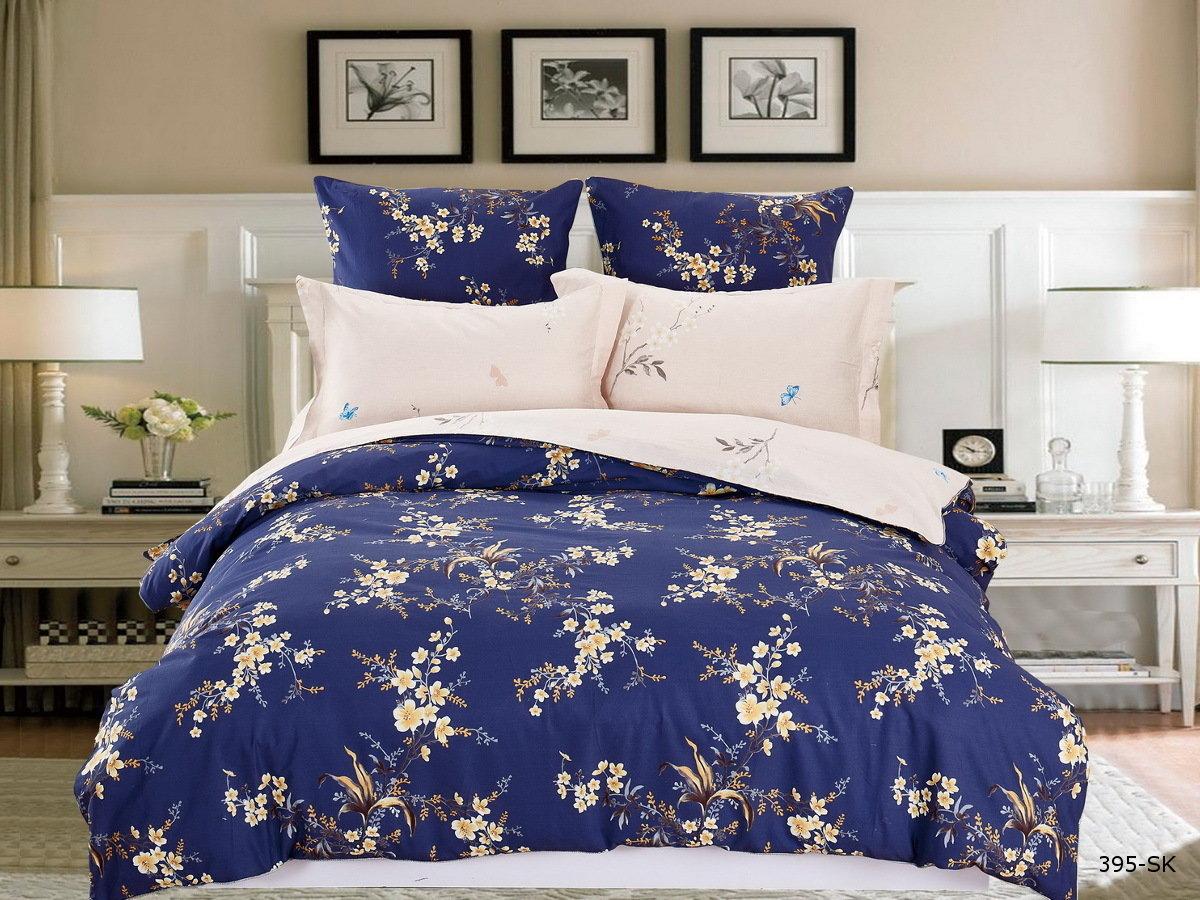 Купить Комплекты постельного белья Cleo, Постельное белье Verona (семейное), Китай, Розовый, Синий, Хлопковый сатин
