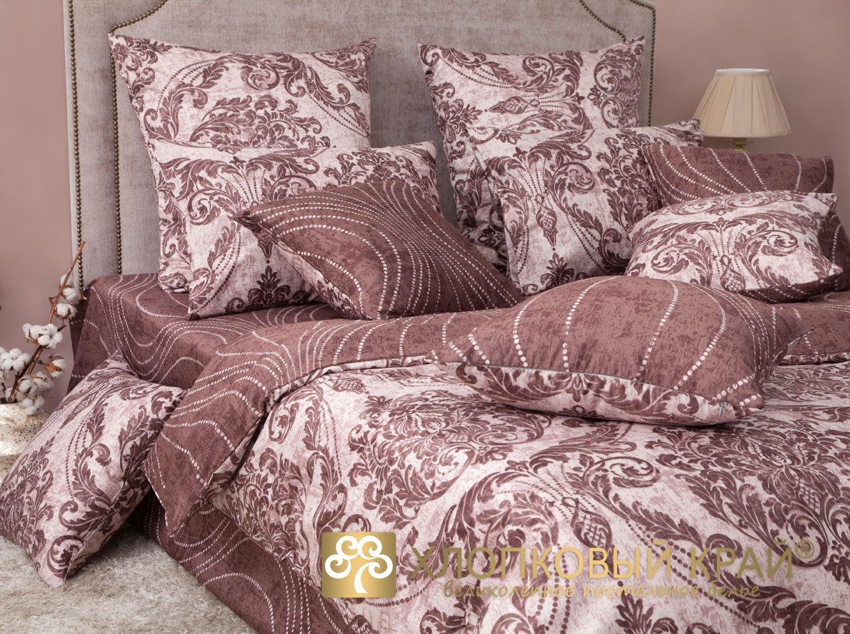 Комплекты постельного белья Хлопковый Край Постельное белье Версаль Тауп (2 спал.)