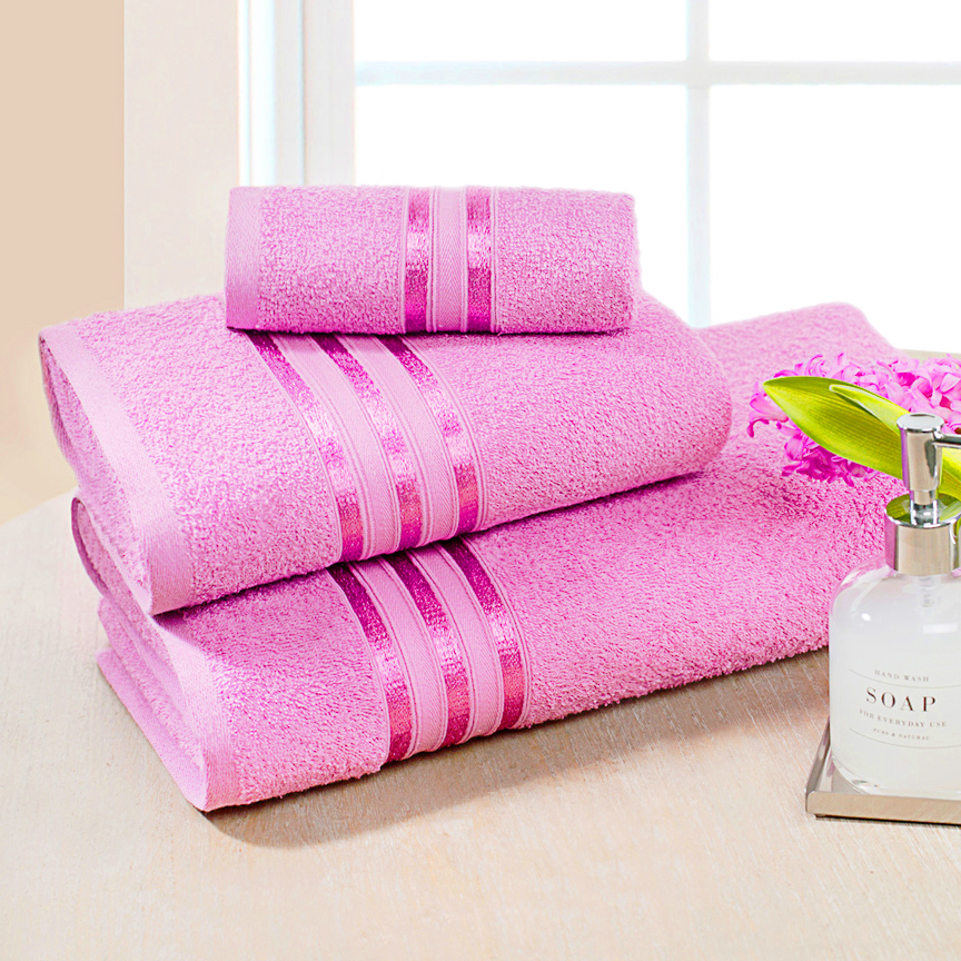 Купить Полотенца Dome, Полотенце банное Harmonika Цвет: Розовая Вишня (70х130 см), Дания, Махра
