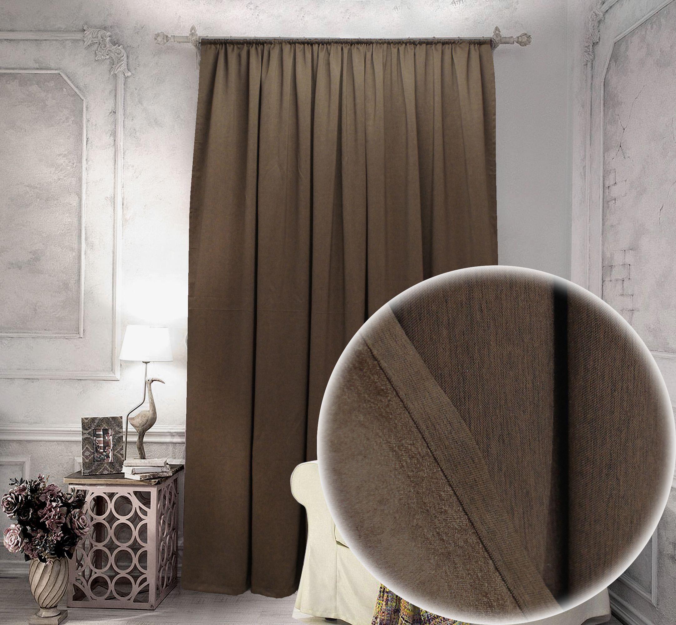 Классические шторы Carmona Цвет: Венге