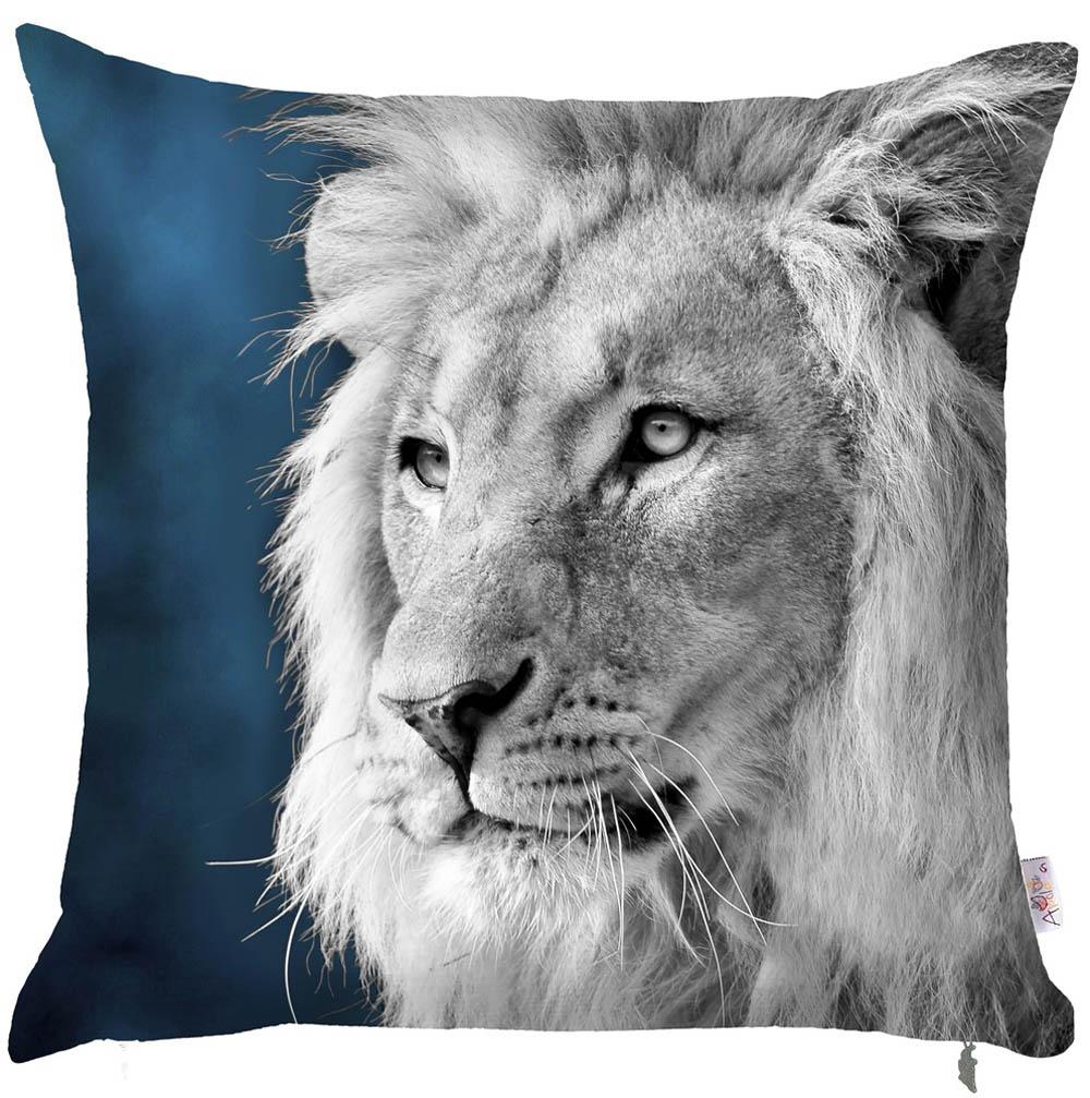 Купить Декоративные подушки Apolena, Декоративная наволочка Lion (43х43), Россия-Турция, Поликоттон