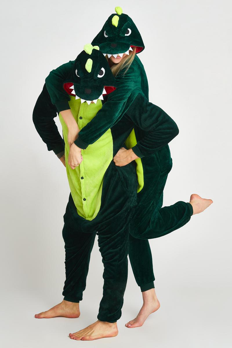 Пижама-кигуруми Динозавр (M).
