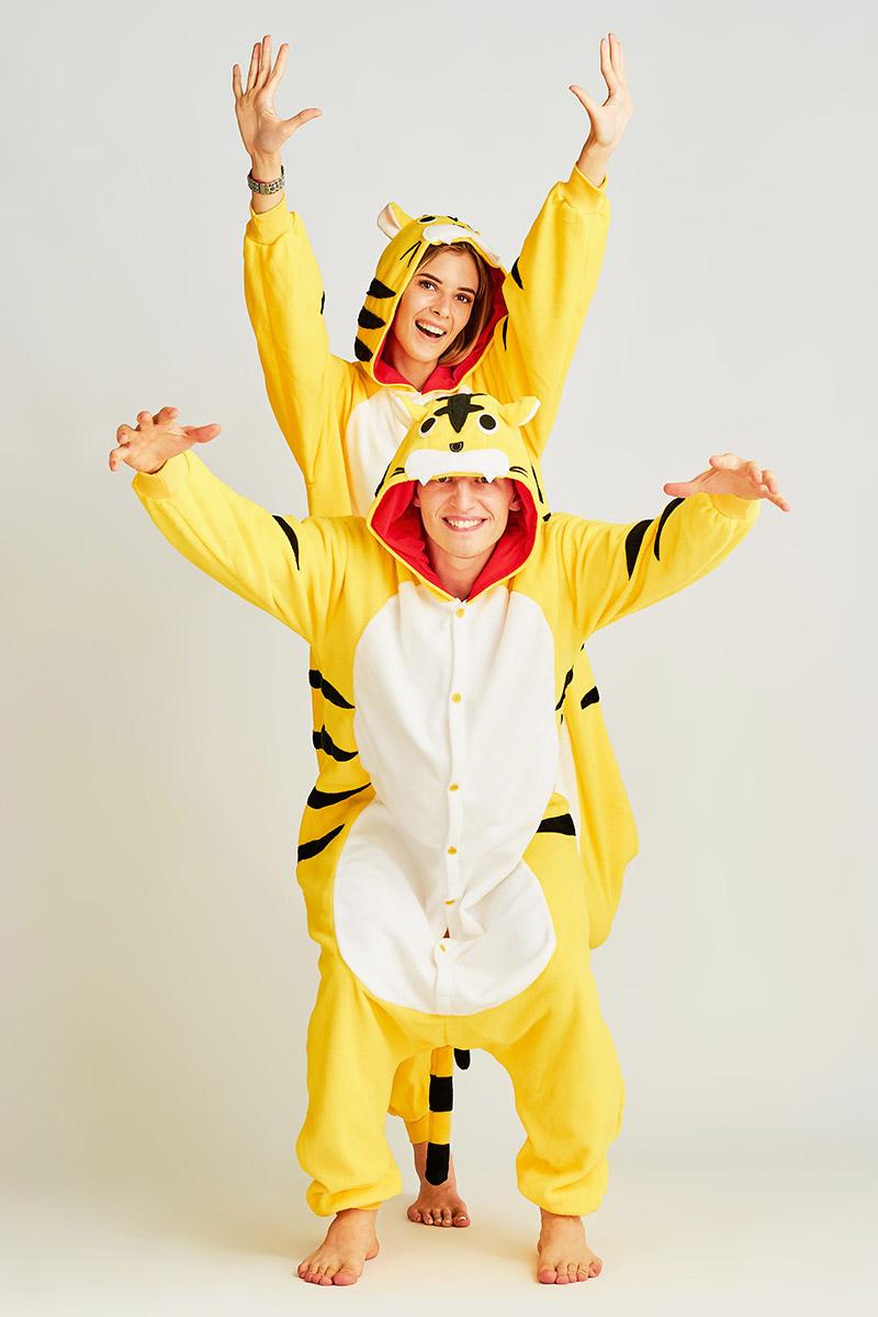 Пижама-кигуруми Тигр Цвет: Жёлтый (M) фото
