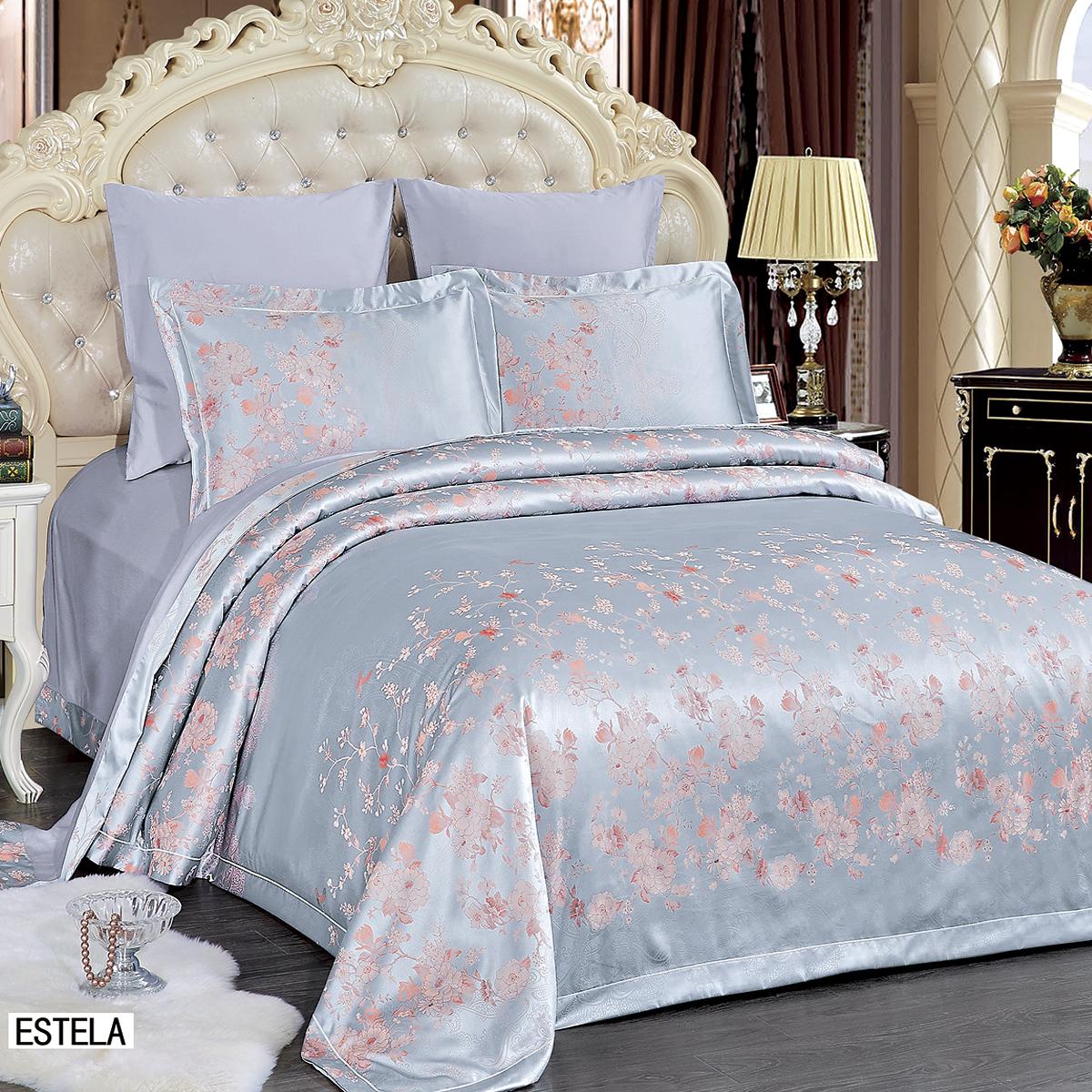 Купить Комплекты постельного белья Arya, Постельное белье Estela (2 сп. евро), Турция, Хлопковый сатин