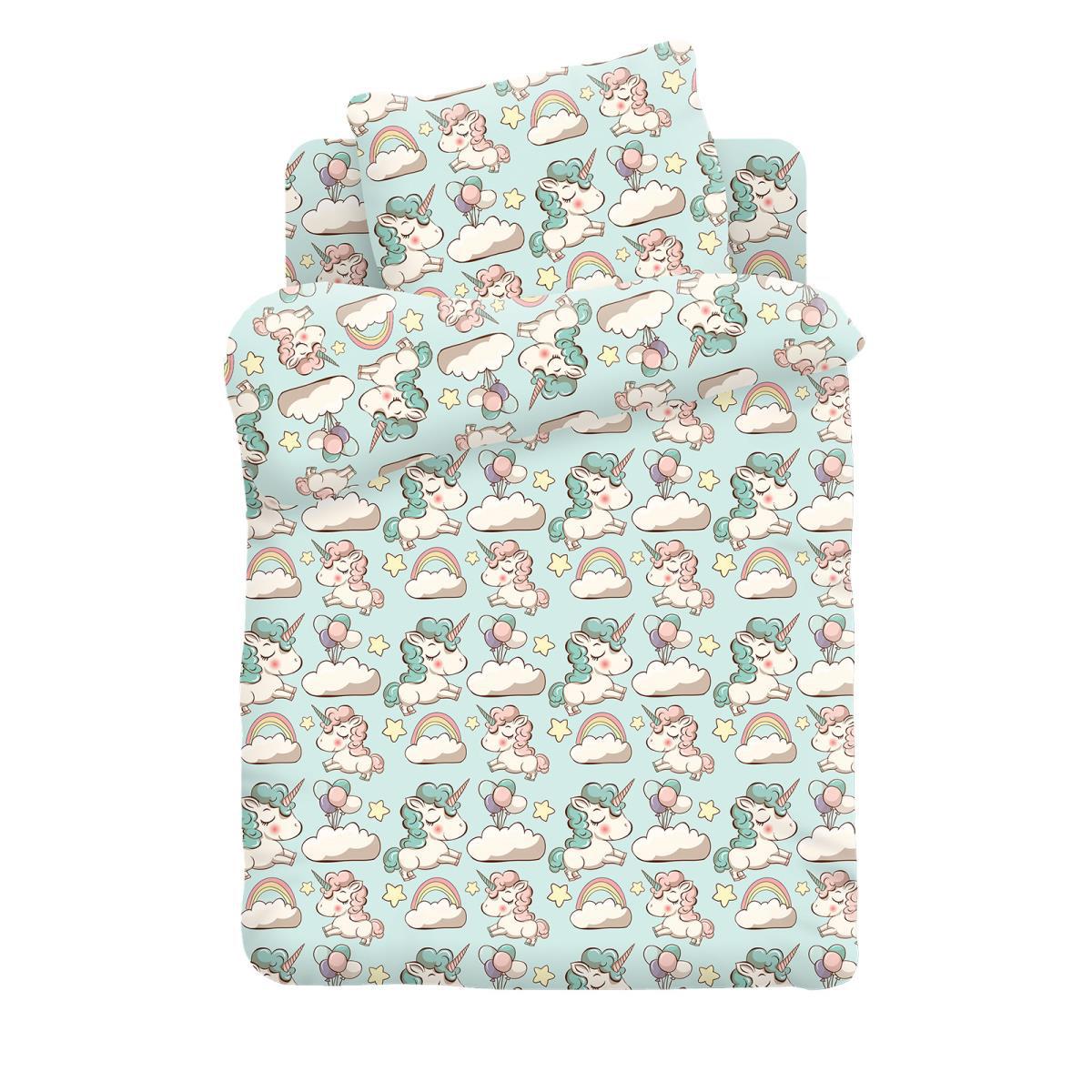 Купить Детское постельное белье Кошки-Мышки, Детское Постельное белье Единорожки (112х147 см), Россия, Бязь