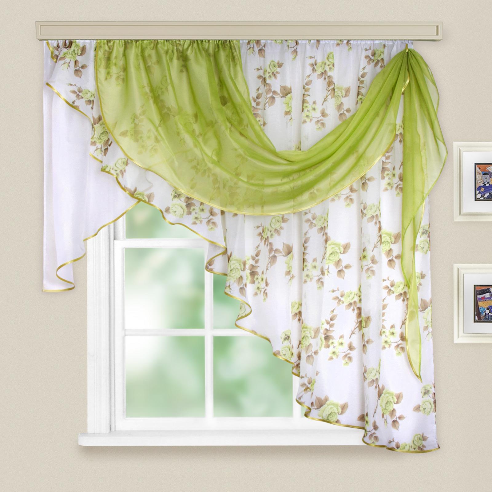 Купить Шторы Witerra, Классические шторы Мелодия Цвет: Зеленый, Россия, Вуаль