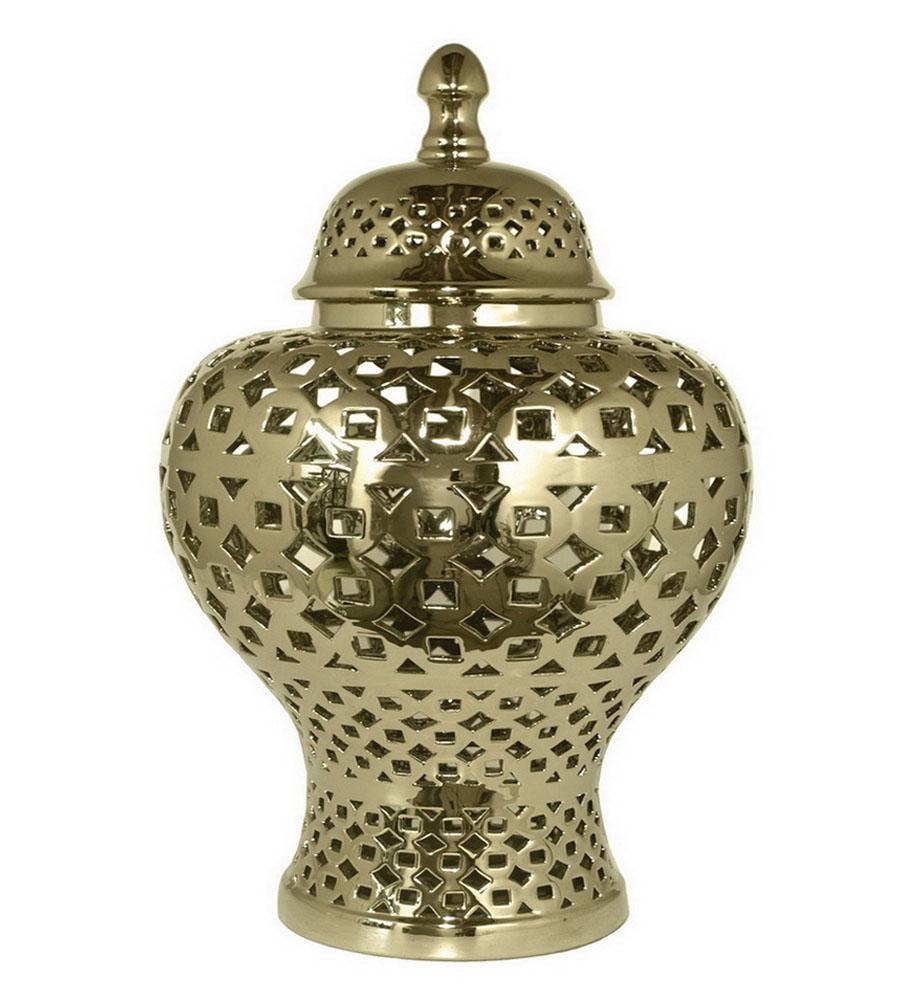 Купить Вазы Home Philosophy, Ваза Shannon (28х48 см), Китай, Золотой, Керамика