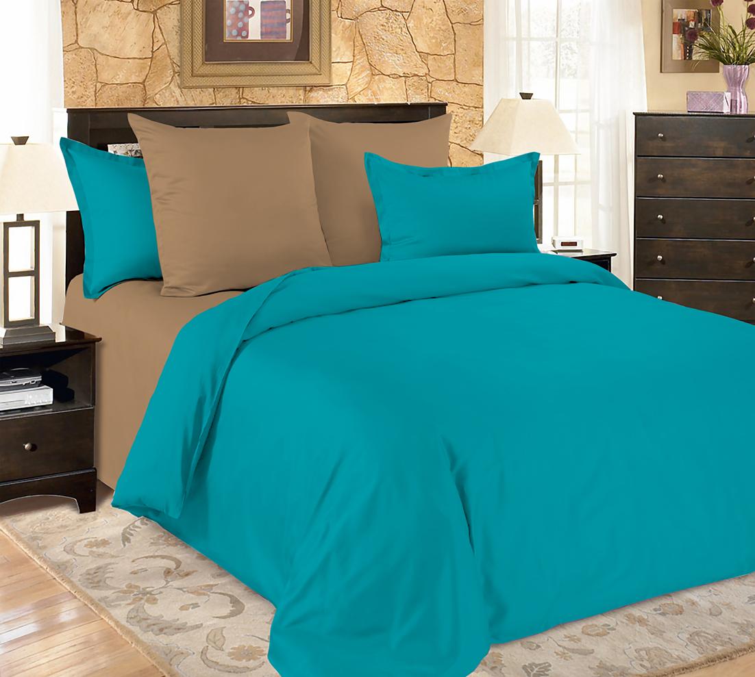 Купить Комплекты постельного белья Amore Mio, Постельное белье Turquoise (2 спал.), Китай, Синтетический сатин