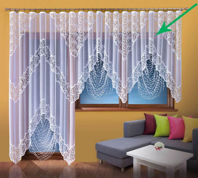 Купить Шторы Wisan, Классические шторы Эрато Цвет: Белый, Польша, Тюль