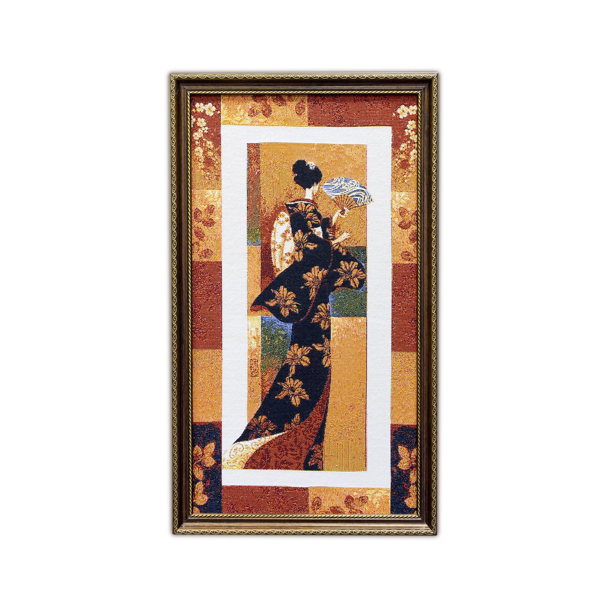 Купить Картины, постеры, гобелены, панно A La Gobelin, Картина Японка С Веером (34х58 см), Россия, Гобелен