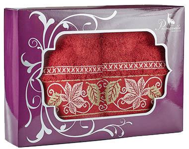 где купить Полотенца Primavelle Полотенце Lea Цвет: Бордовый (50х90 см - 2 шт ) по лучшей цене