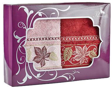 где купить Полотенца Primavelle Полотенце Lea Цвет: Бордовый+Сухая Роза (50х90 см - 2 шт ) по лучшей цене