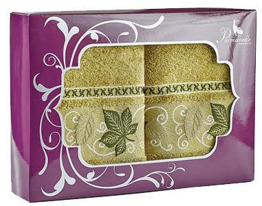 где купить Полотенца Primavelle Полотенце Lea Цвет: Оливковый (50х90 см - 2 шт ) по лучшей цене
