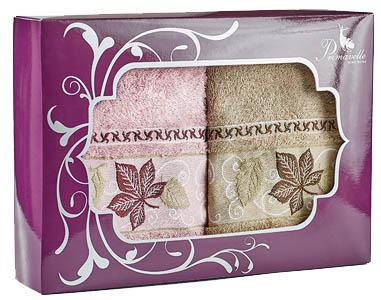 где купить Полотенца Primavelle Полотенце Lea Цвет: Сухая Роза+Светло-Коричневый (50х90 см - 2 шт ) по лучшей цене