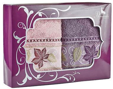 где купить Полотенца Primavelle Полотенце Lea Цвет: Сухая Роза+Лиловый (50х90 см - 2 шт ) по лучшей цене