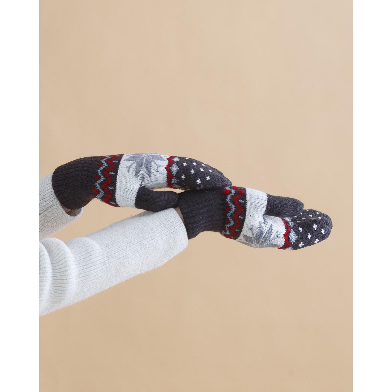 Варежки Скандинавия Цвет: Чёрный (21) фото