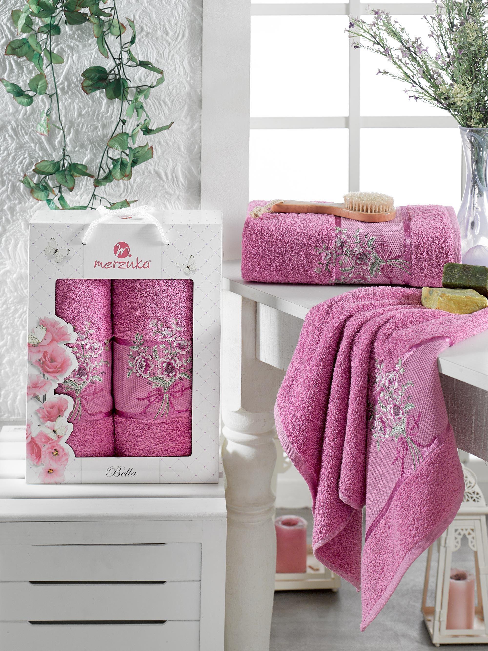 Полотенца Oran Merzuka Полотенце Bella Цвет: Светло-Лиловый (50х80 см,70х130 см) полотенца oran merzuka полотенце sakura цвет светло лиловый набор