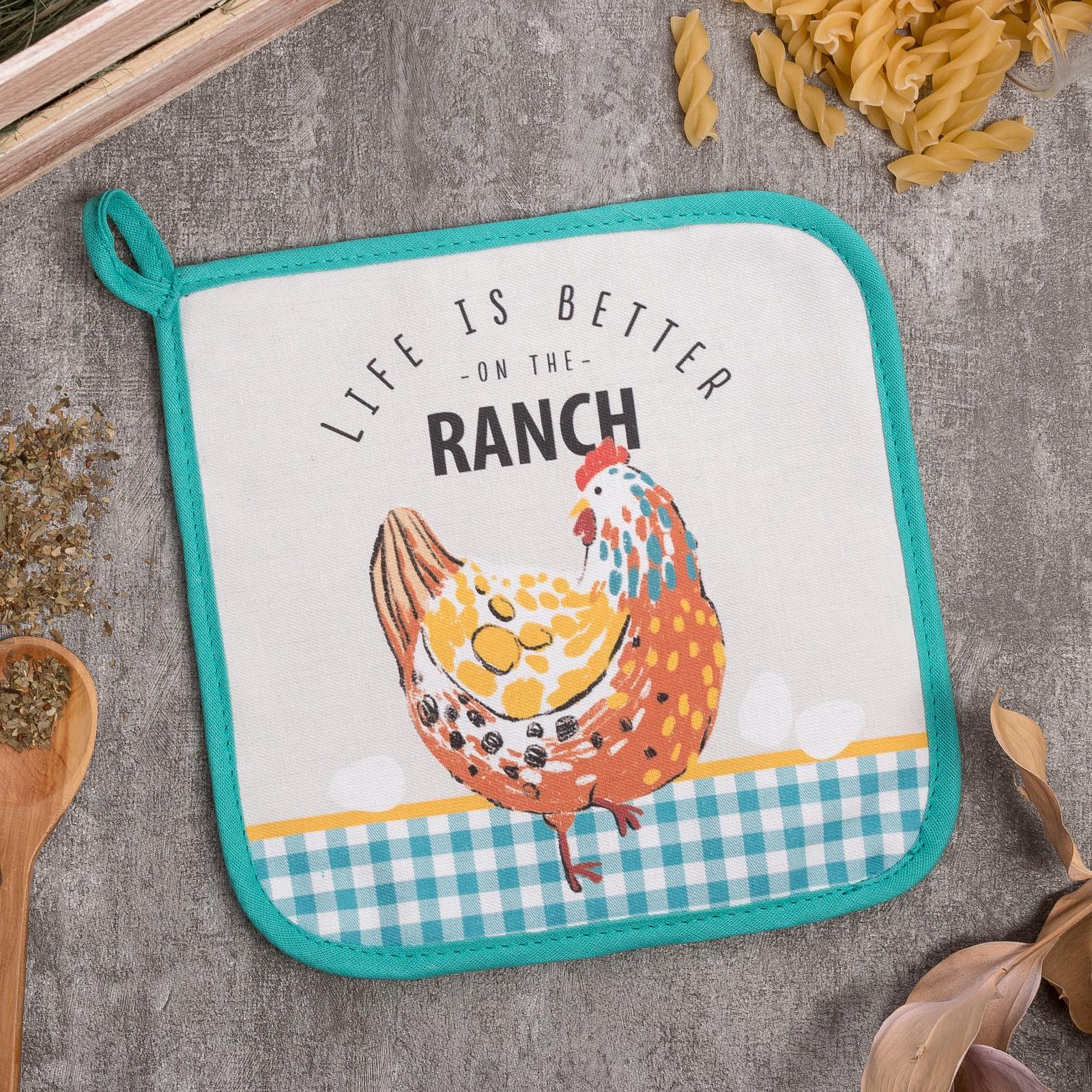 Прихватка Chicken Ranch (19х19 см)