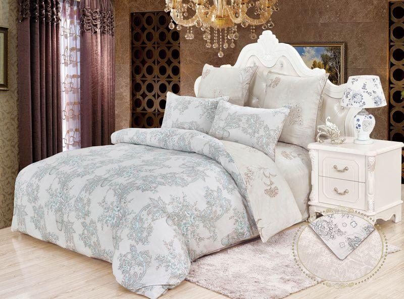 Купить Комплекты постельного белья KAZANOV.A, Постельное белье Арфа Цвет: Серый (семейное), Китай, Хлопковый сатин