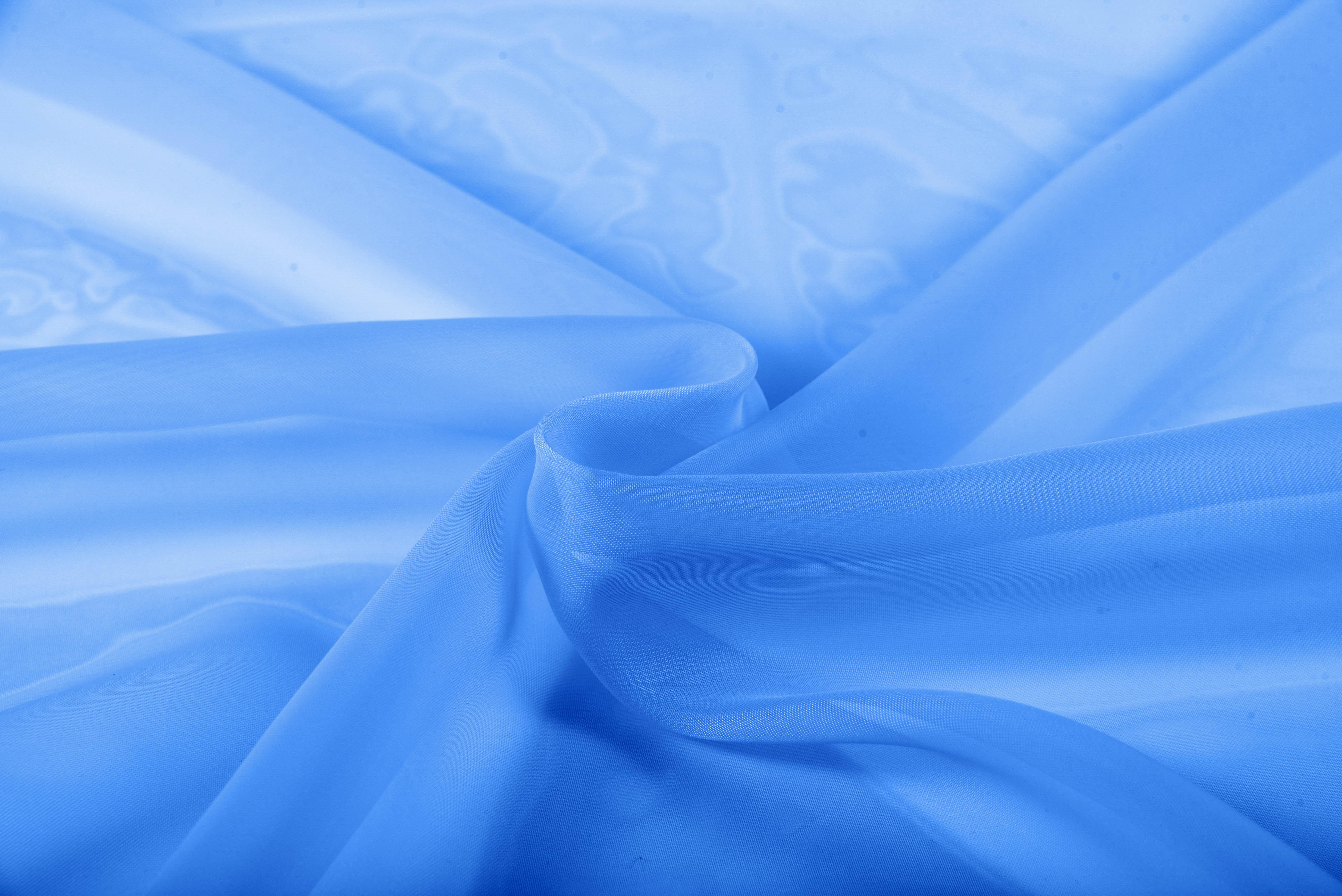 Купить Ткани TexRepublic, Материал Вуаль Palette Цвет: Синий, Китай
