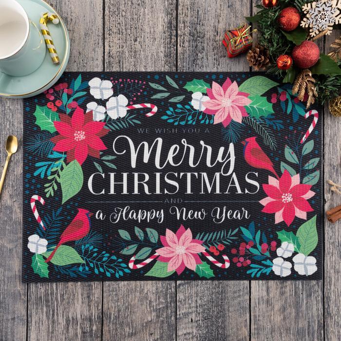 Подстановочная салфетка Merry Christmas (29х40 см) Доляна dln707948