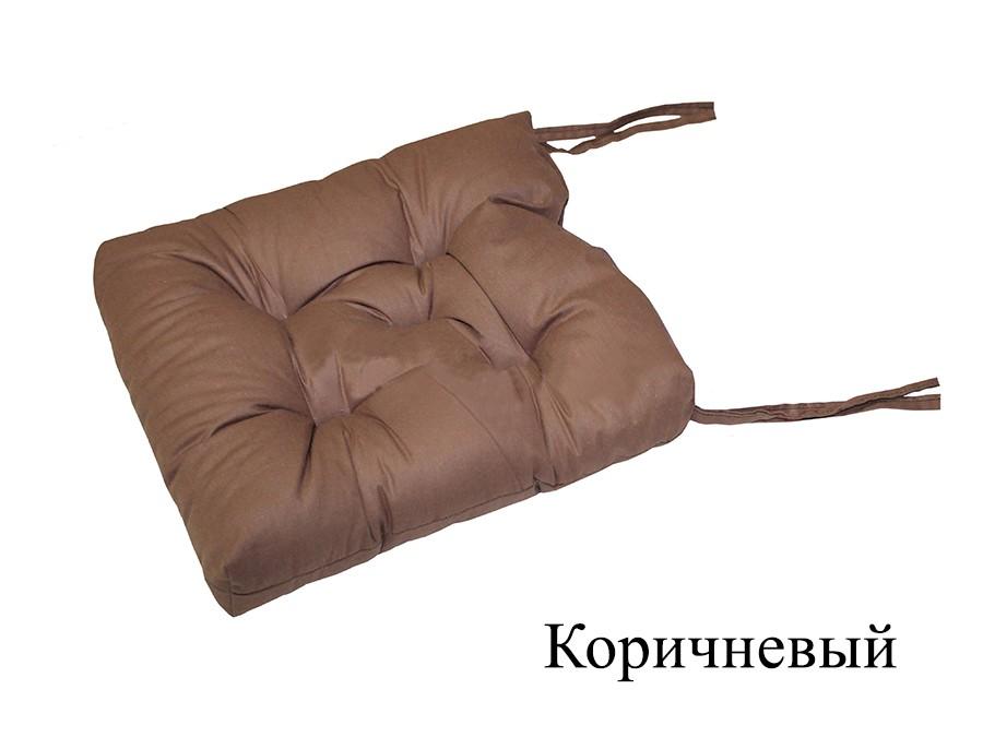 Подушка на стул Allene цвет: коричневый (35х35 (2 шт))