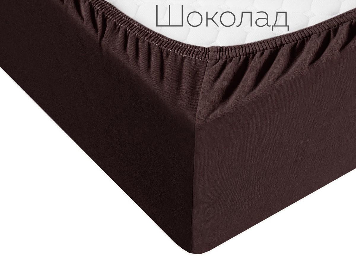 Простыня на резинке Winter цвет: шоколад (140х200)