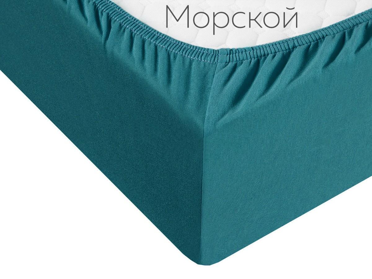 Простыня на резинке Effie цвет: бирюзовый (120х200)