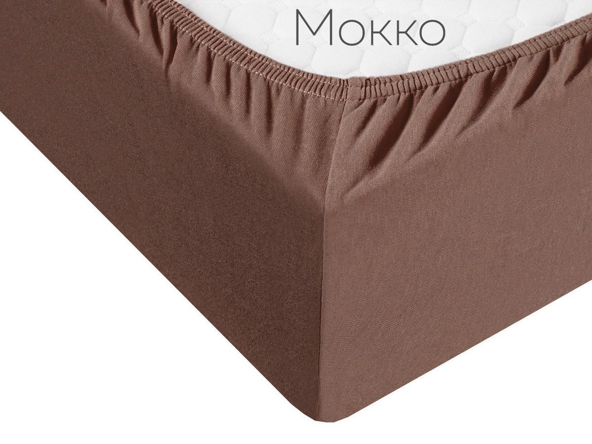 Простыня на резинке Cordell цвет: мокко (140х200)