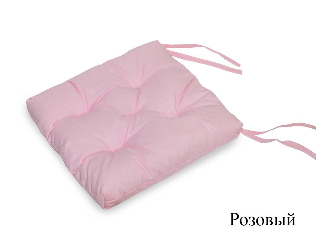 Подушка на стул Aulay цвет: розовый (35х35 (2 шт))