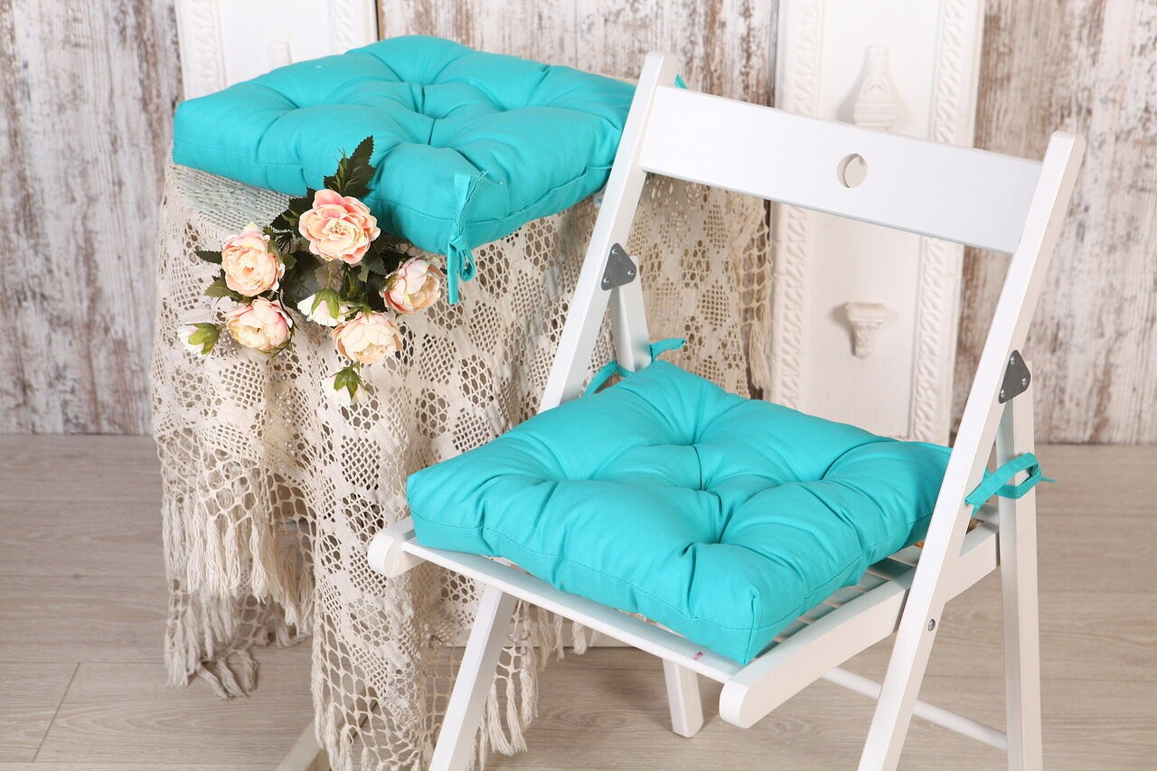 Подушка на стул Wilma цвет: изумруд (35х35 (2 шт))