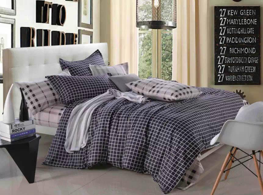 Купить Комплекты постельного белья Tango, Постельное белье Berenice (2 сп. евро), Китай, Серый, Фиолетовый, Хлопковый сатин