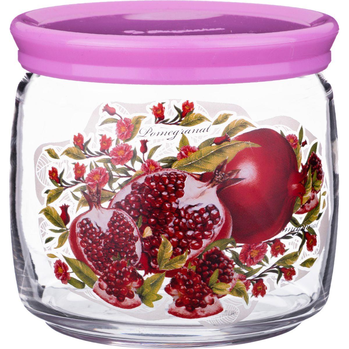 Купить Хранение продуктов Arti-M, Банка Гранаты (650 мл), Китай, Бордовый, Сиреневый, Стекло