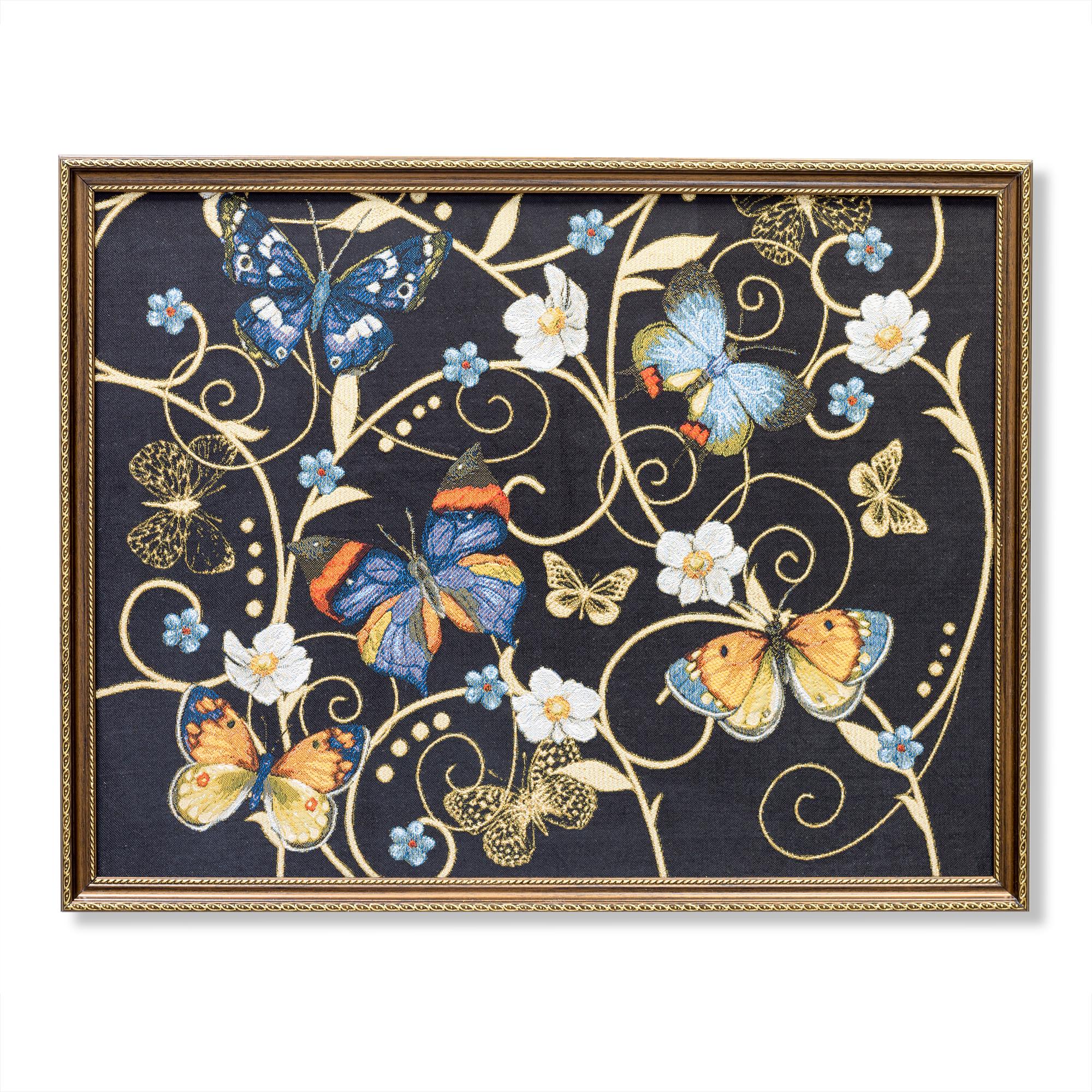 Купить Картины, постеры, гобелены, панно A La Gobelin, Картина Бабочки Летают (45х72 см), Россия, Гобелен