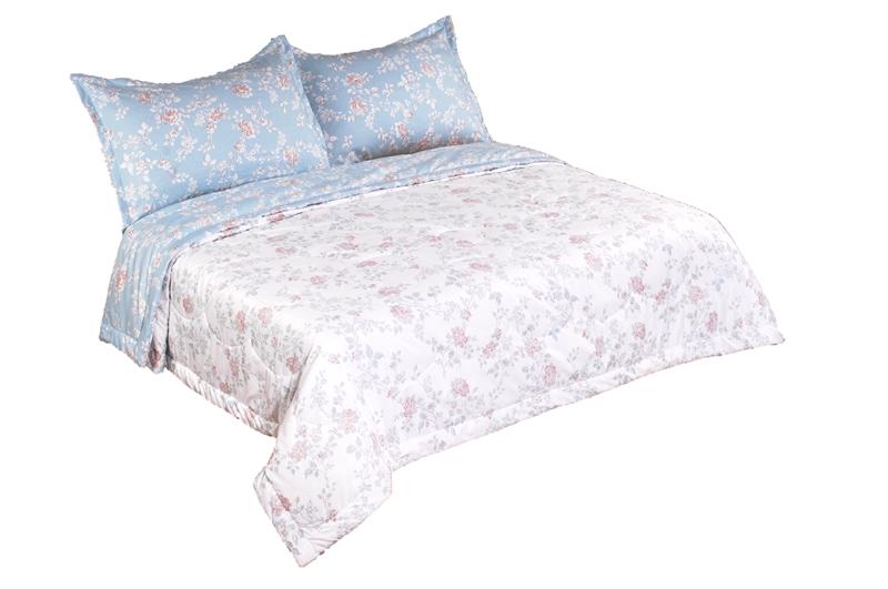 Купить Комплекты постельного белья KAZANOV.A, Постельное белье Делиция Цвет: Белый, Голубой (1, 5 спал.), Китай, Вискозный сатин