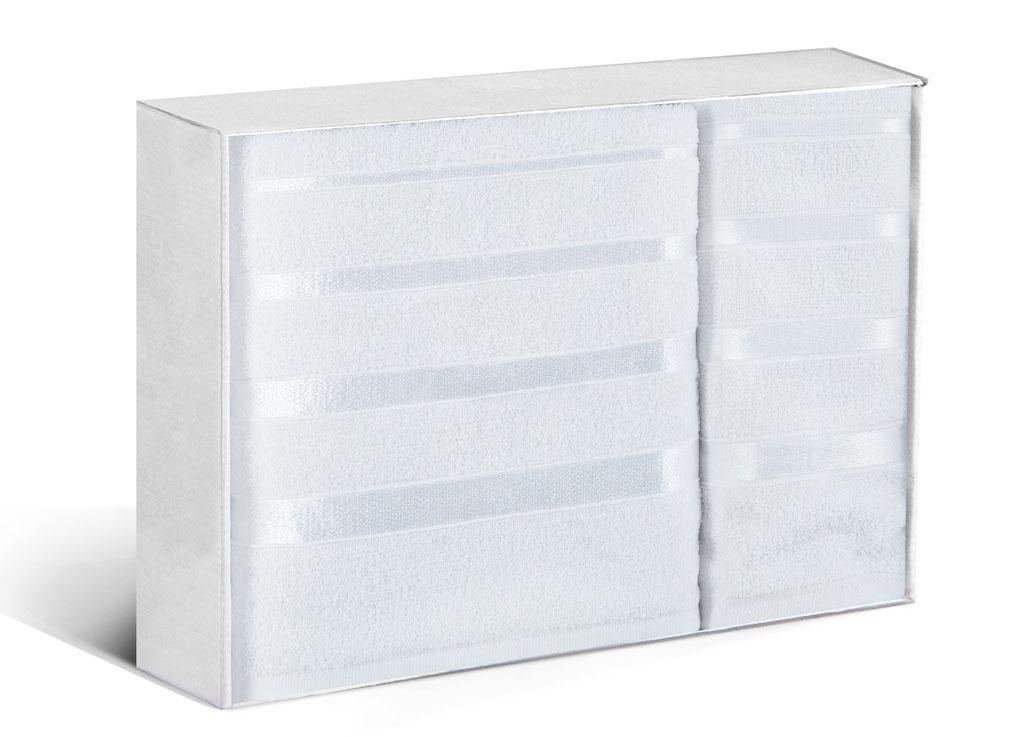 Купить Полотенца Soavita, Полотенце Шантони Цвет: Белый (50х88 см, 65х138 см), Китай, Махра