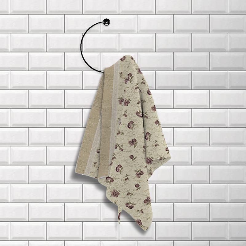 Купить Полотенца Романтика, Кухонное полотенце Шебби-Шик (40х50 см), Россия, Вафля