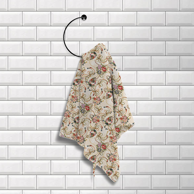 Купить Полотенца Романтика, Кухонное полотенце Журавли (50х70 см), Россия, Вафля