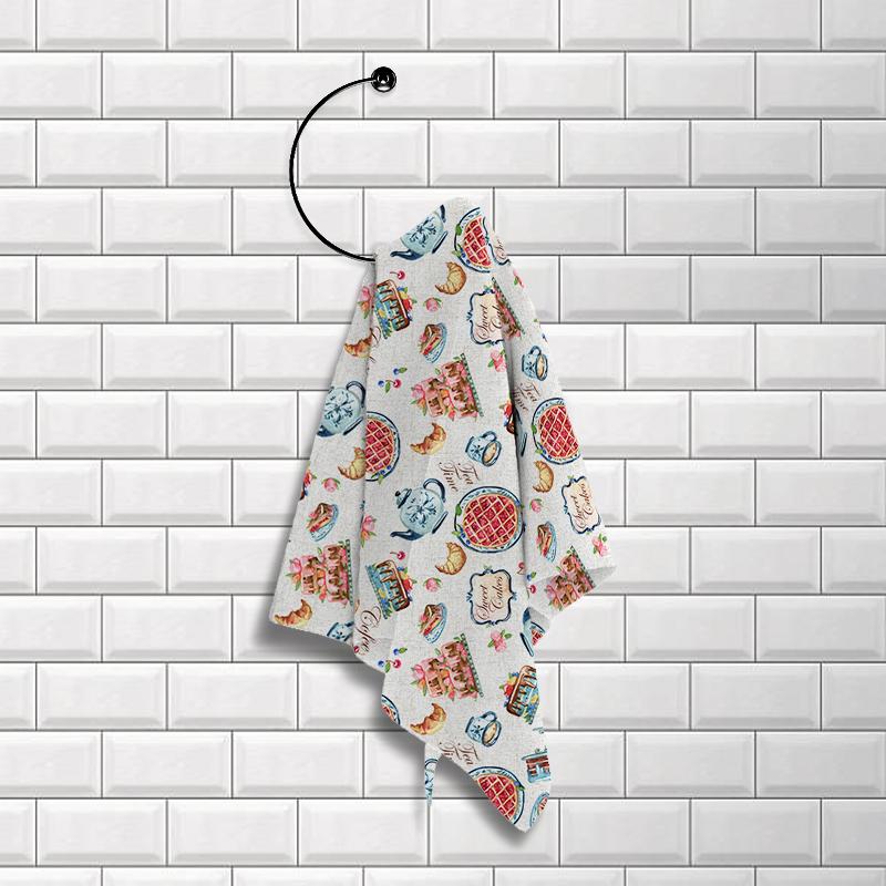 Купить Полотенца Романтика, Кухонное полотенце Домашнее Чаепитие (50х70 см - 2 шт), Россия, Вафля