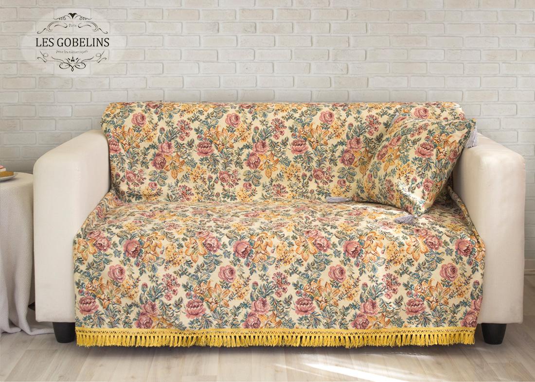 где купить Пледы и покрывала Les Gobelins Накидка на диван Arrangement De Fleurs (160х190 см) по лучшей цене