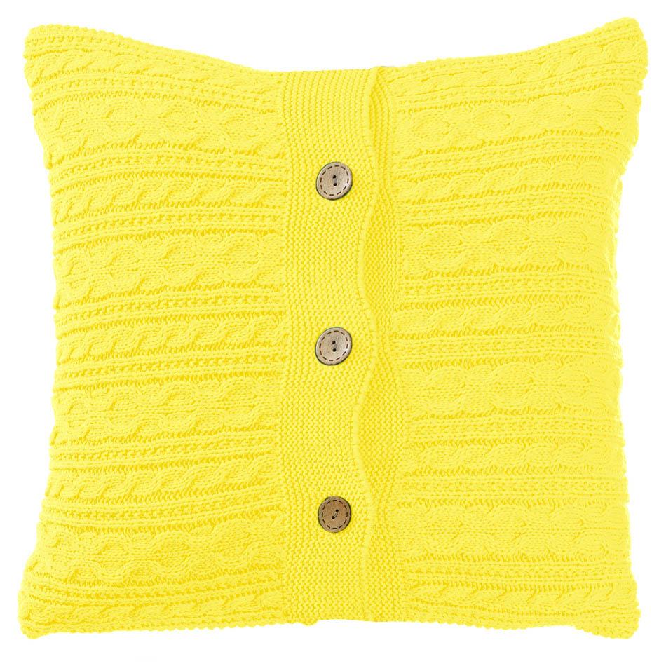Купить Декоративные подушки Apolena, Декоративная наволочка Yellow (45х45), Россия-Турция, Вязаный акрил