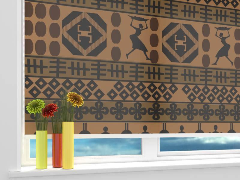 Римские и рулонные шторы StickButik Рулонные шторы Африканские Мотивы