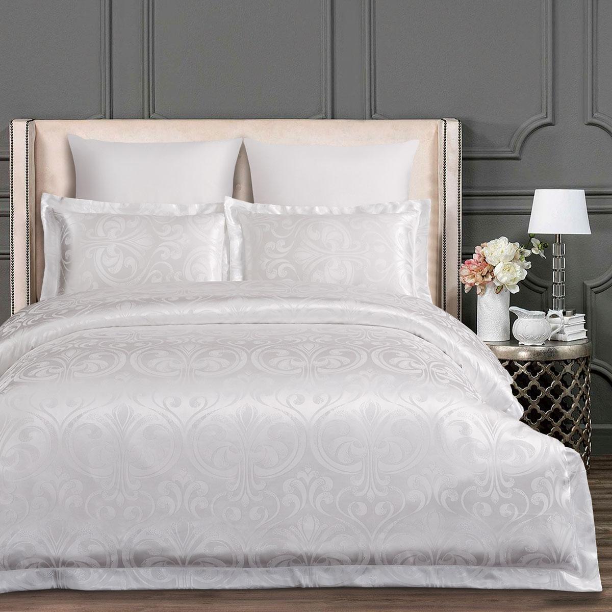 Купить Комплекты постельного белья Arya, Постельное белье Tilda (2 сп. евро), Турция, Белый, Вискозный сатин