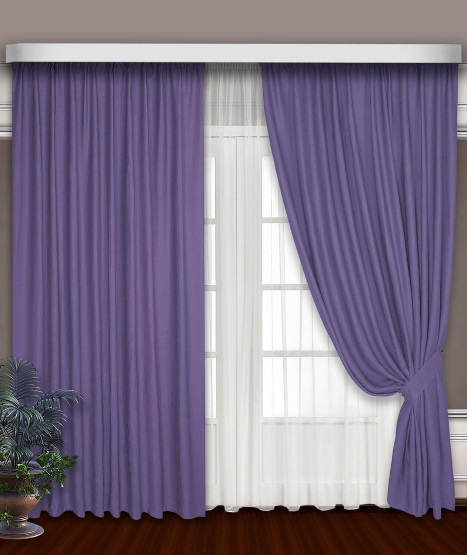 Классические шторы Sofia цвет: сиреневый