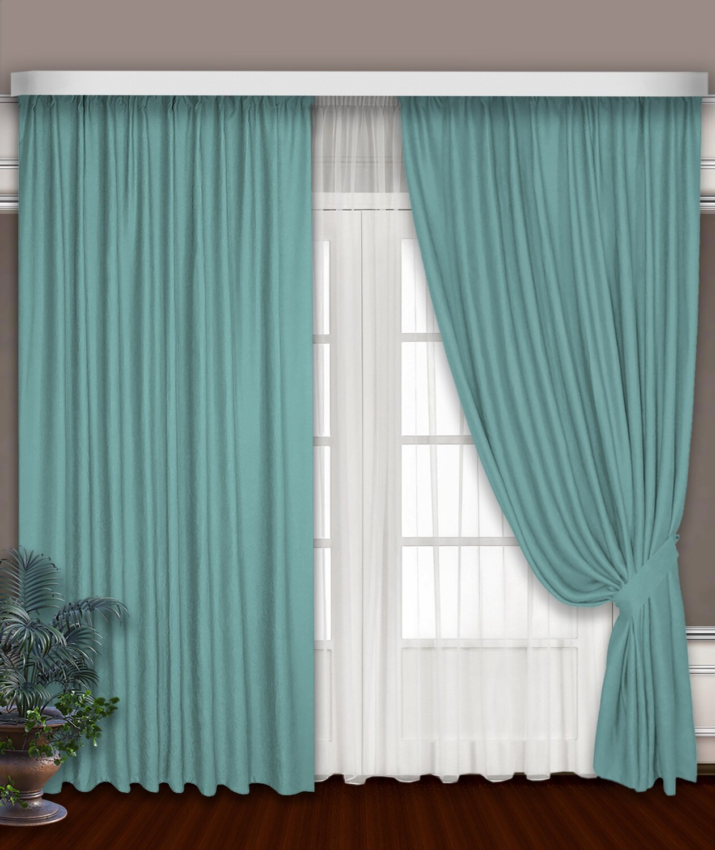 Классические шторы Claramay цвет: бирюзовый