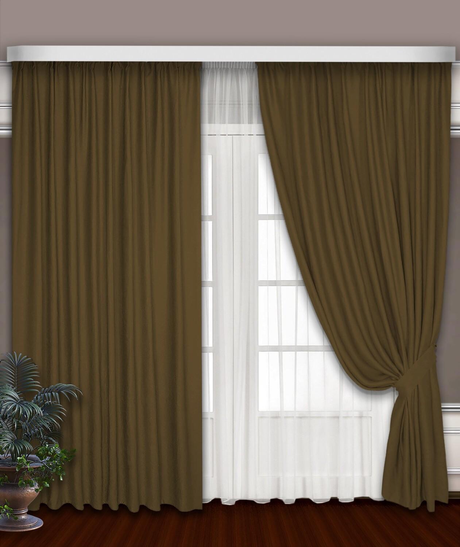 Классические шторы Cecilia цвет: горчичный