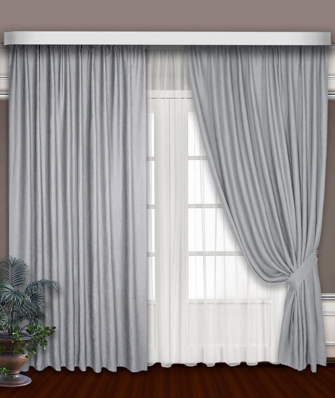 Классические шторы Hamilton цвет: стальной