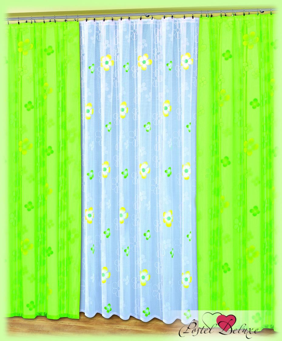 Купить Шторы Haft, Классические шторы Suma Цвет: Салатовый, Польша, Зеленый, Тюль, Тафта